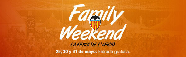 Cartel Family Weekend del Valencia C.F. - Cobertura sanitaria de Ambulancias Vallada