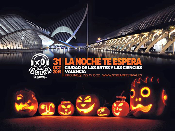 Cartel del Evento Scream Halloween Festival