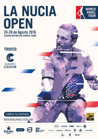 Cartel World Padel Tour La Nucía Open 2016